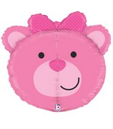 "27"" Multi-Sided Dimensionals™ Baby Girl Bear Balloon"
