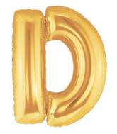 "7"" Airfill (requires heat sealing) Letter Balloons D Gold"