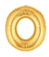 "7"" Airfill (requires heat sealing) Letter Balloons O Gold"
