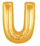 "7"" Airfill (requires heat sealing) Letter Balloons U Gold"