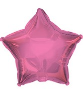 "7"" Candy Pink Star Self Sealing Valve Foil Balloon"