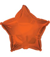 "7"" Sunkissed Orange Star Self Sealing Valve Foil Balloon"