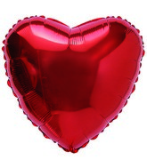 "31"" Heart Plain Red Foil Balloon"
