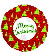 "18"" Merry Christmas Trees Mylar Balloon"