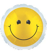 "17"" Yellow Smiley Balloon Packaged"