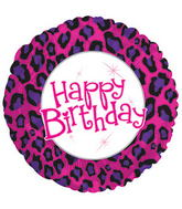 "17"" Happy Birthday Animal Print Packaged"