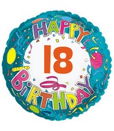 "18"" Happy 18 Birthday Streamers"