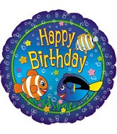 "17"" Happy Birthday Fish Packaged"