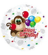 "17"" Monkey Around Birthday Packaged"