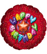 "18"" Happy Birthday Balloon Letters"