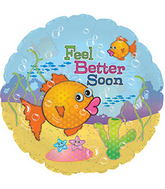 "24"" Feel Better Soon Clear Balloon"