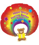 "31"" Feel Better Soon Rainbow Bear"