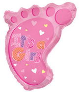 "22"" It's A Girl Foot Shape Balloon"
