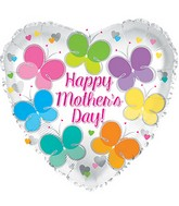 "17"" Happy Mother's Day Flutterflies Balloon"