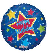 "18"" Happy Birthday Big Star Balloon"