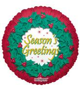 "18"" Season's Greetings Wreath Balloon"