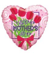 "18"" Happy Mother's Day Bunch Of Flowers Balloon"