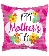 "36"" Mother's Day Square With Flowers Balloon"