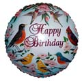 "18"" Happy Birthday Robins Balloon"