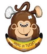 "28"" Hang In There Monkey Shape Balloon"