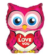"18"" Owl With Heart Shape"