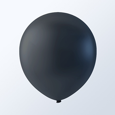 "5"" Black Latex Balloons (144 Per Bag)"
