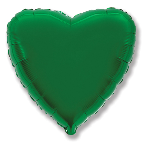 "32"" Metallic Green Jumbo Heart"