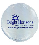 "18"" Bright Horizons Promotional White Balloon"