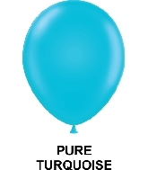 "11"" Fashion Party Style Latex Balloons (100 CT) Turquoise"