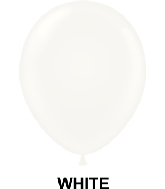 "9"" Standard Party Style Latex Balloons (100 CT) White"