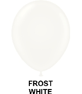 "9"" Metallic Party Style Latex Balloons (100 CT) Frost White"