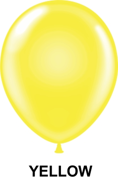 "11"" Standard Party Style Latex Balloons (100 CT) Yellow"