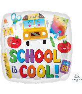 "18"" Colorful School is Cool Foil Balloon"