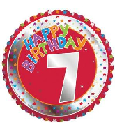 "18"" Children's Milestone ""7"" Happy Birthday Foil Balloon"