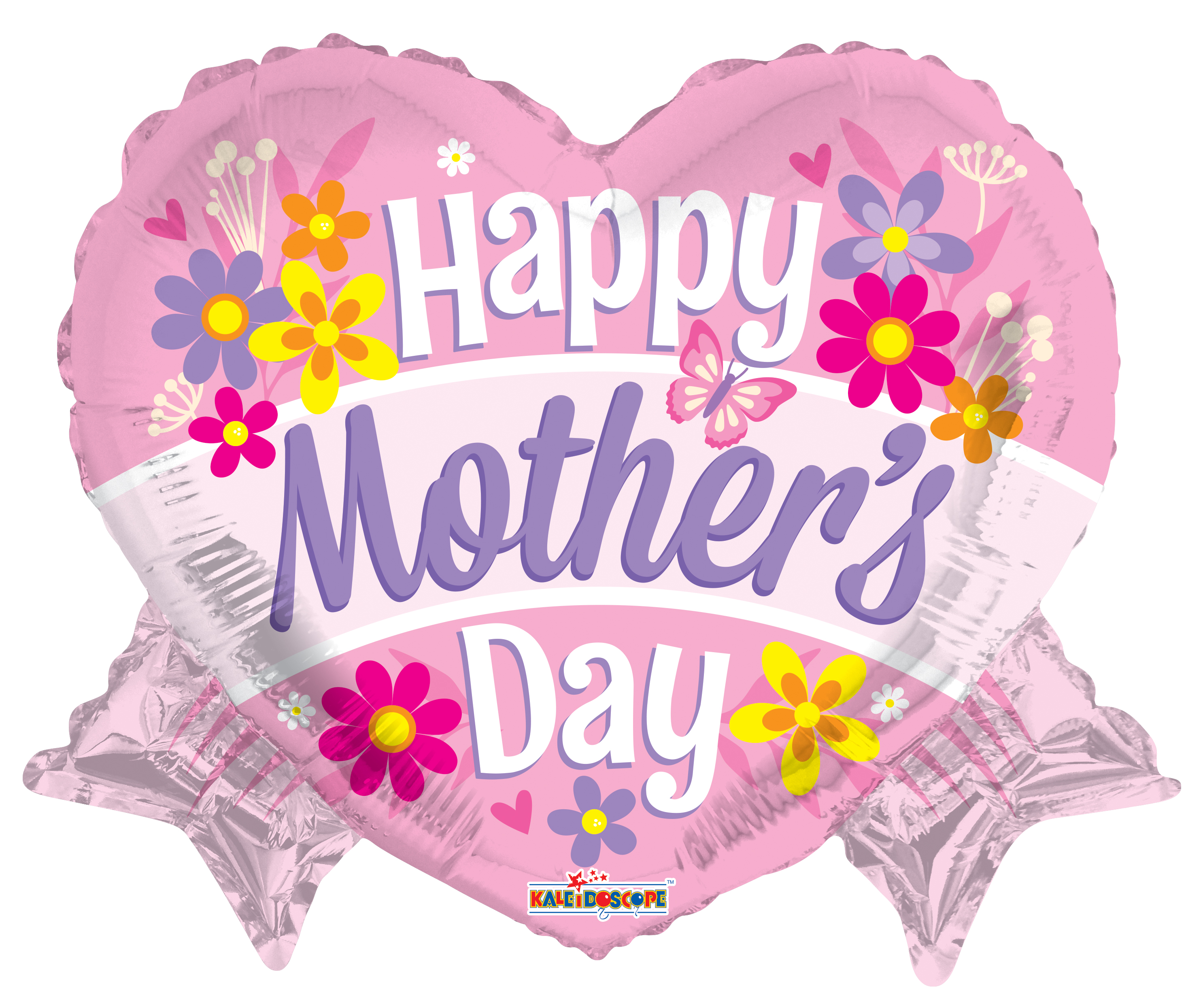 "18"" Happy Mother's Day Heart With Banner Shape Foil Balloon"
