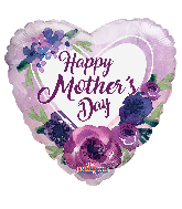 "36"" Happy Mother's Day Violet Flowers Foil Balloon"