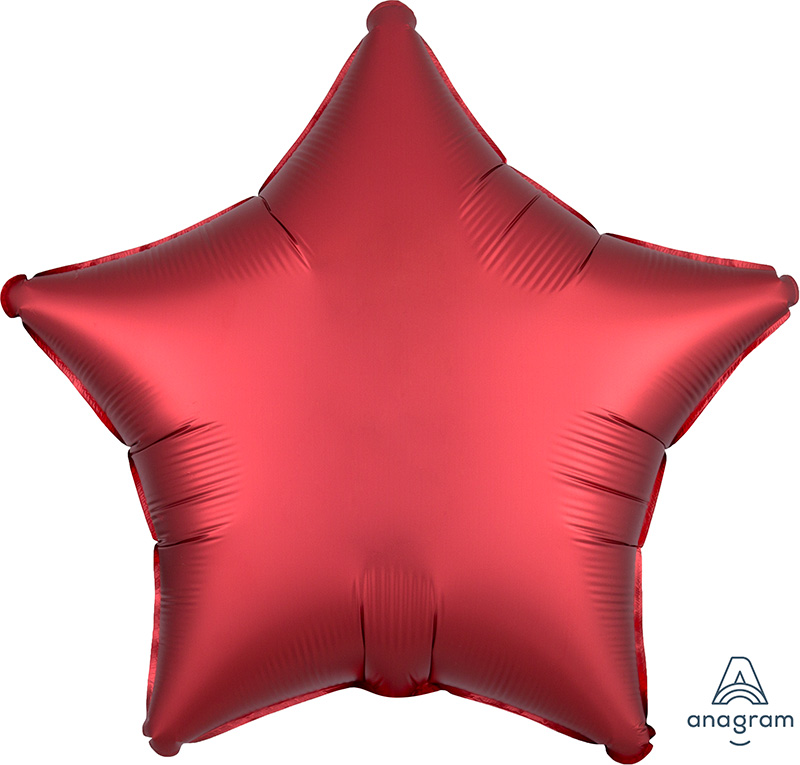 "18"" Satin Luxe™ Sangria Star Foil Balloon"