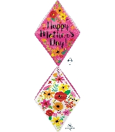 "25"" Happy Mother's Day Floral Gem Anglez™ Foil Balloon"
