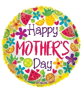 "18"" Happy Mother's Day Citric GelliBean Foil Balloon"