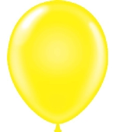 "17"" Standard Yellow Tuf Tex Latex Balloons 50 Per Bag"