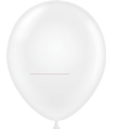 "17"" Crystal Clear Tuf Tex Latex Balloons 50 Per Bag"
