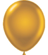 "17"" Pearl Gold Tuf Tex Latex Balloons 50 Per Bag"