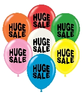 "17"" Huge Sale Printed Latex Balloons 50 Per Bag"