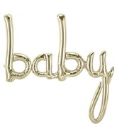 "34"" Airfill Only Baby Script - White Gold Script Word"