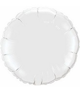 "9"" Airfill Only White Round Plain Foil Balloon"