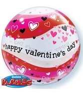 "22"" Valentine's Day Heart Wave Bubble Balloon"