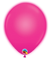 "10"" Q-Lite Magenta 5 Count Qualatex Light Up Latex Balloons"