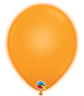 "10"" Q-Lite Orange 5 Count Qualatex Light Up Latex Balloons"