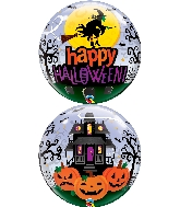 "22"" Halloween Witch Haunting Bubble Balloon"