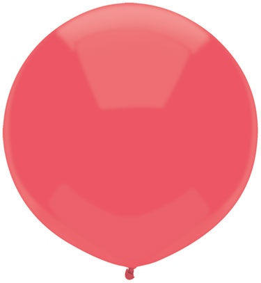"17"" Outdoor Display Balloons (72 Count) Watermelon Red"